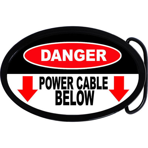 Power Cable Below Danger Belt Buckle
