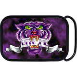 Full Color Purple Panther Bite Me Belt Buckle