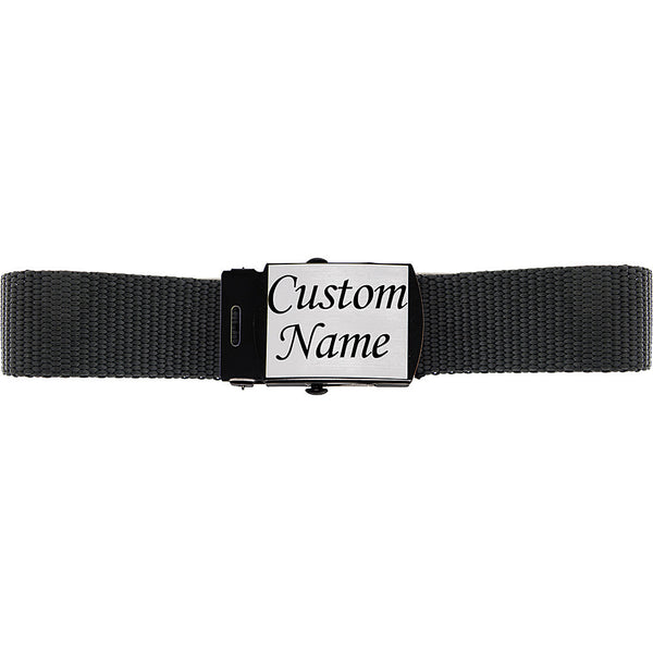 Custom Silver Matte Personalized Buckle and Belt