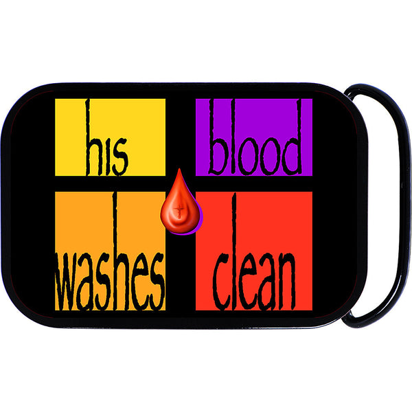 His Blood Washes Clean Belt Buckle