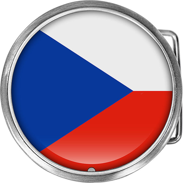 Czech Republic Flag Belt Buckle