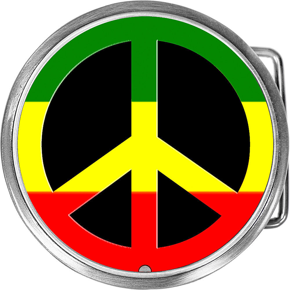 Circle rasta peace sign belt buckle bodycandy circle rasta peace sign belt buckle biocorpaavc Image collections