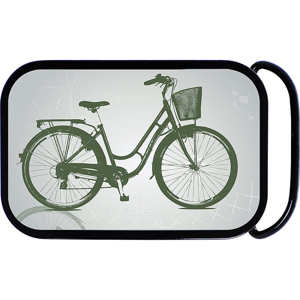 Black and White Bicycle Belt Buckle