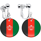 Afghanistan Flag Clip on Earrings
