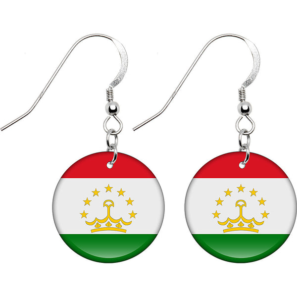 Tajikistan Flag Earrings