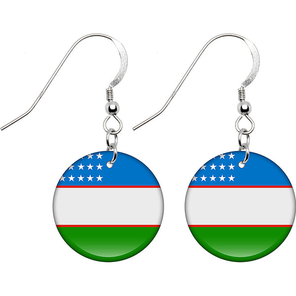 Uzbekistan Flag Earrings