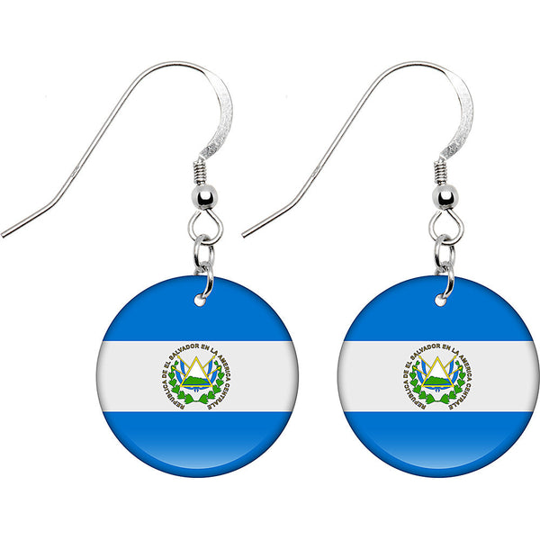 El Salvador Flag Earrings