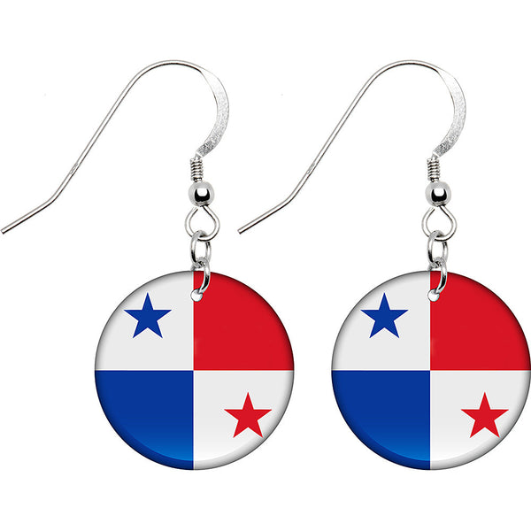 Panama Flag Earrings