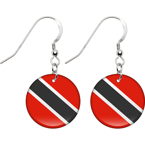 Trinidad and Tobago Flag Earrings