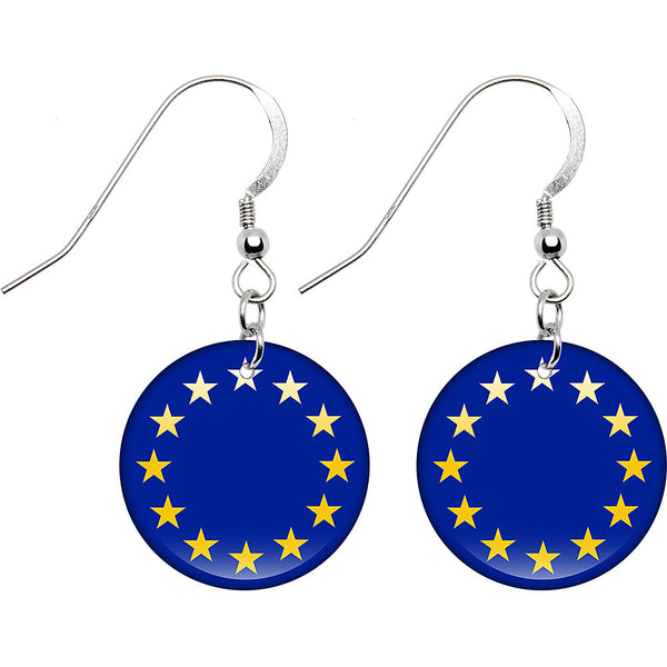European Union Flag Earrings