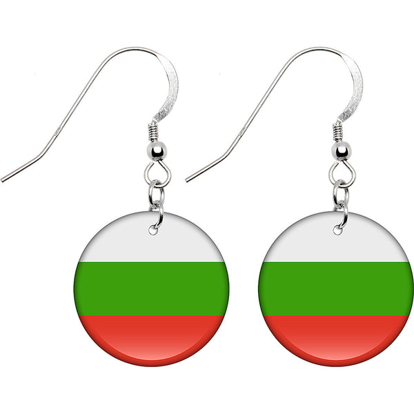 Bulgaria Flag Earrings