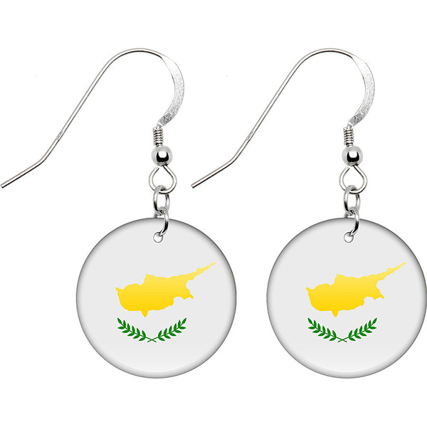 Cyprus Flag Earrings