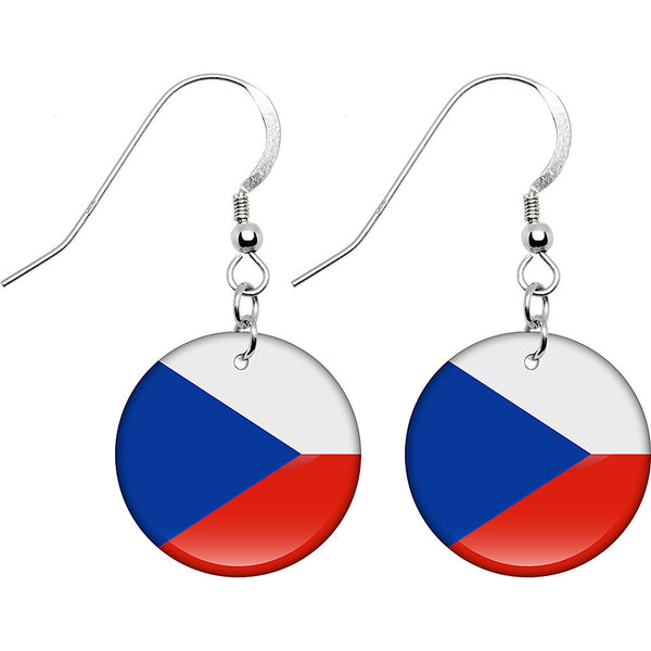 Czech Republic Flag Earrings