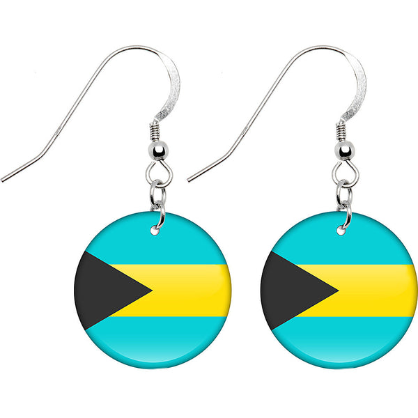 Bahamas Flag Earrings