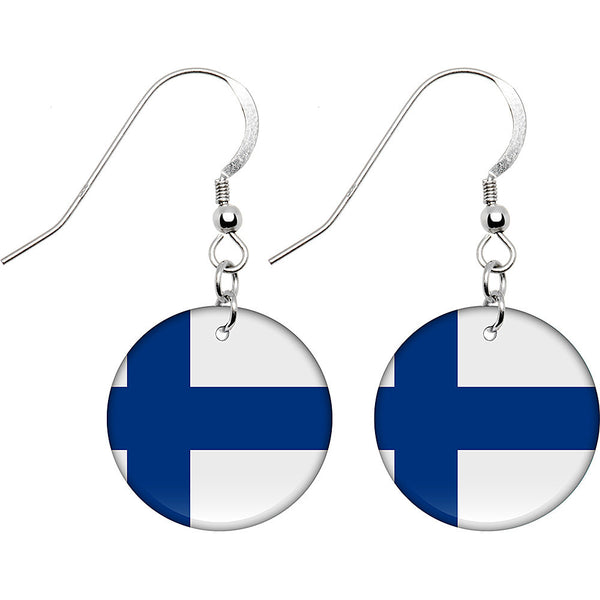 Finland Flag Earrings