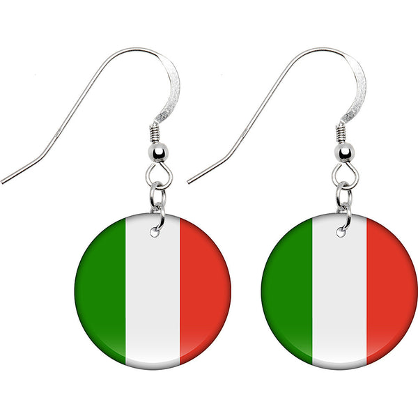 Italy Flag Earrings