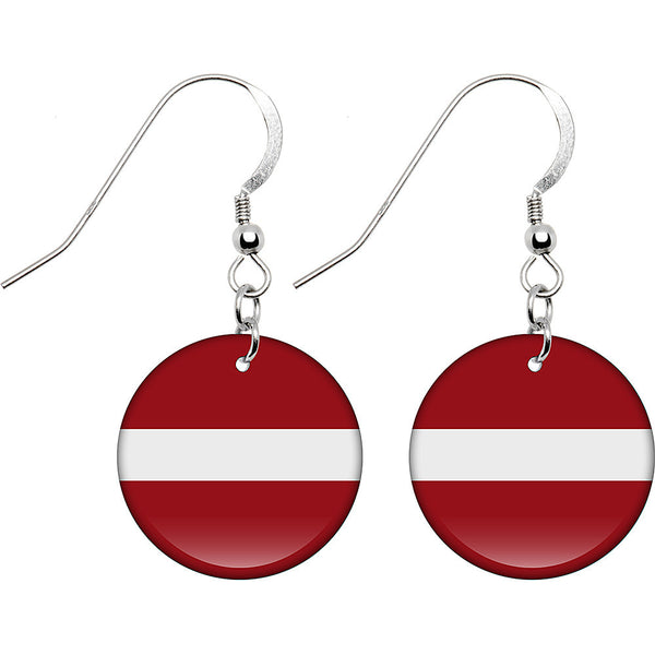 Latvia Flag Earrings