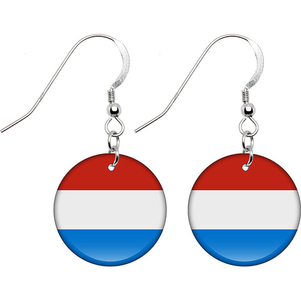 Luxembourg Flag Earrings