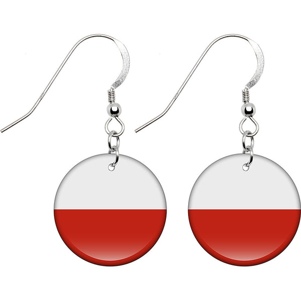 Poland Flag Earrings