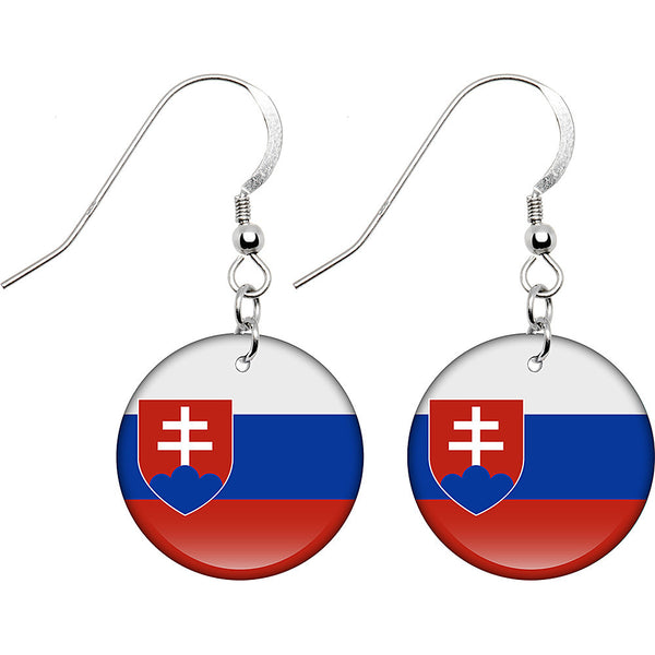 Slovakia Flag Earrings