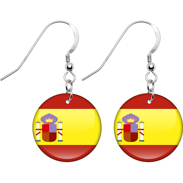 Spain Flag Earrings