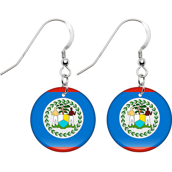 Belize Flag Earrings