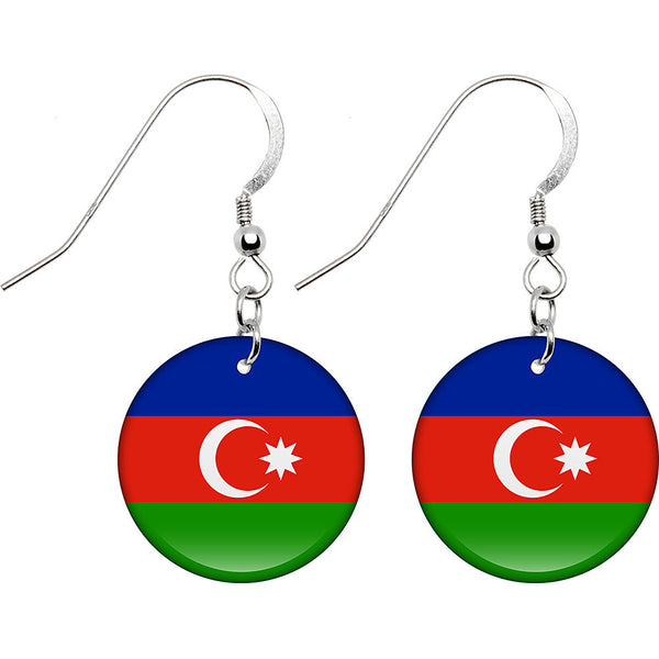 Azerbaijan Flag Earrings