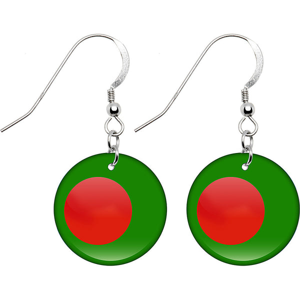 Bangladesh Flag Earrings
