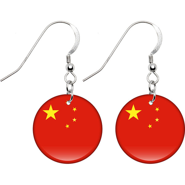 China Flag Earrings