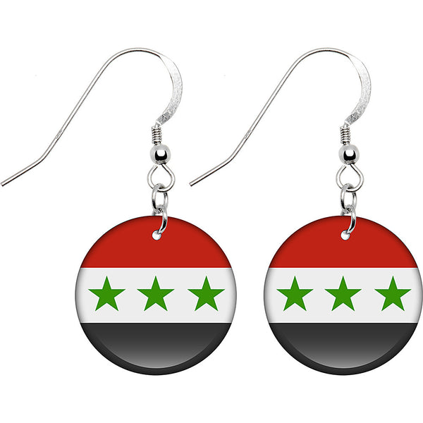 Iraq Flag Earrings