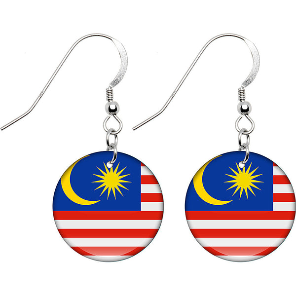 Malaysia Flag Earrings