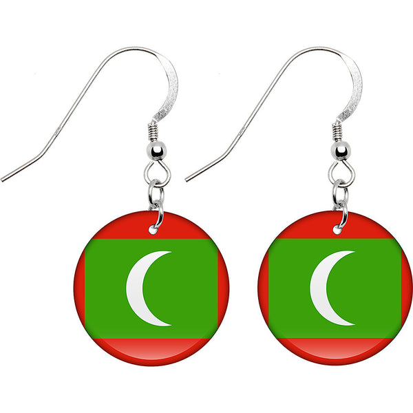 Maldives Flag Earrings
