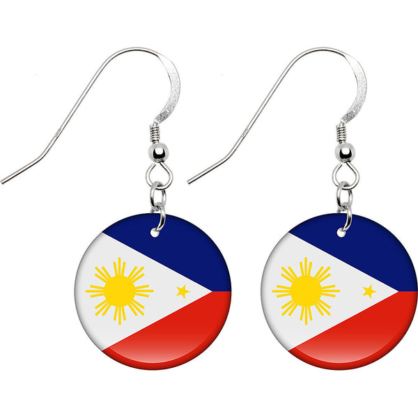 Philippines Flag Earrings