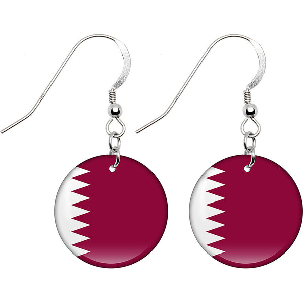 Qatar Flag Earrings