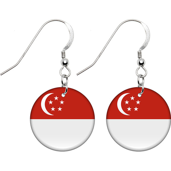 Singapore Flag Earrings