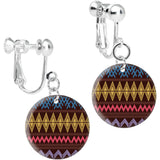 Dark Brown Dreams of Desert Sand Clip On Earrings
