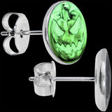 Bad Jack O' Lantern Glow in the Dark Stud Earrings