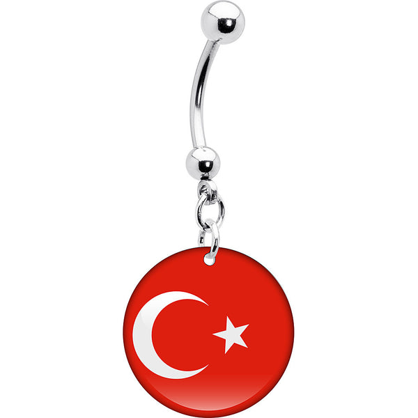 Turkey Flag Belly Ring