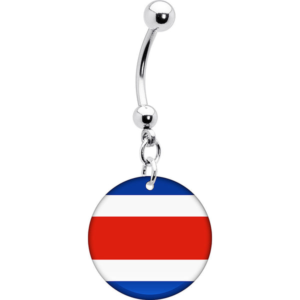 Costa Rica Flag Belly Ring