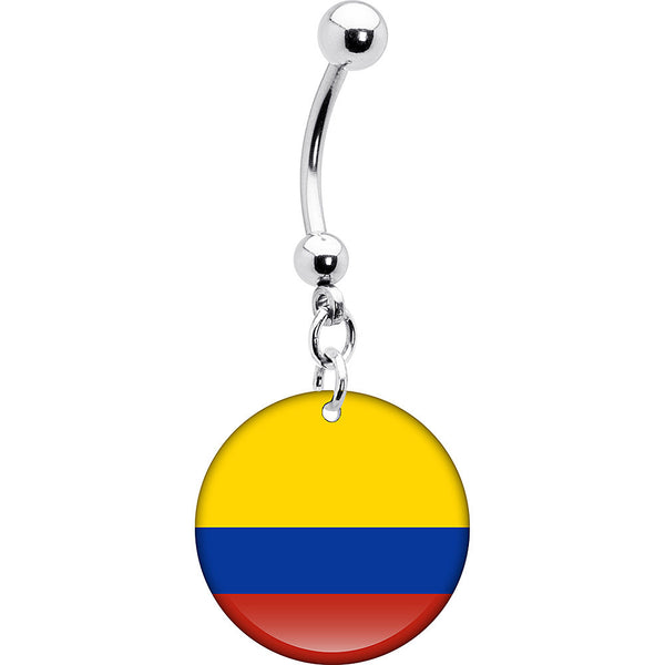 Colombia Flag Belly Ring