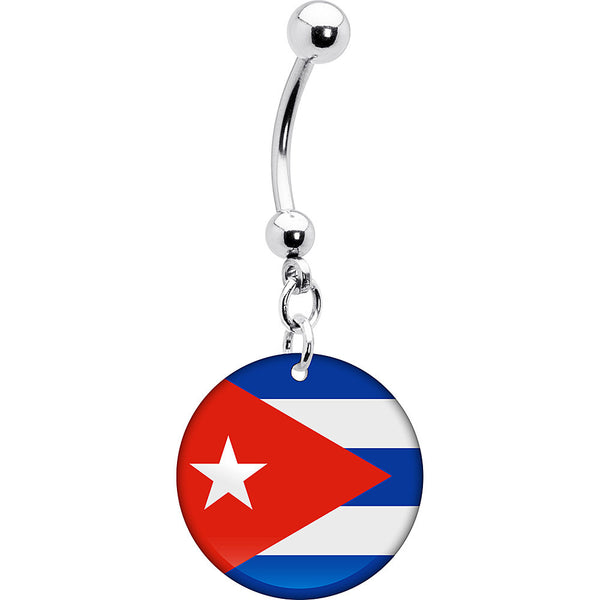 Cuba Flag Belly Ring