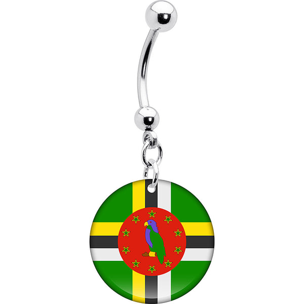 Dominica Flag Belly Ring