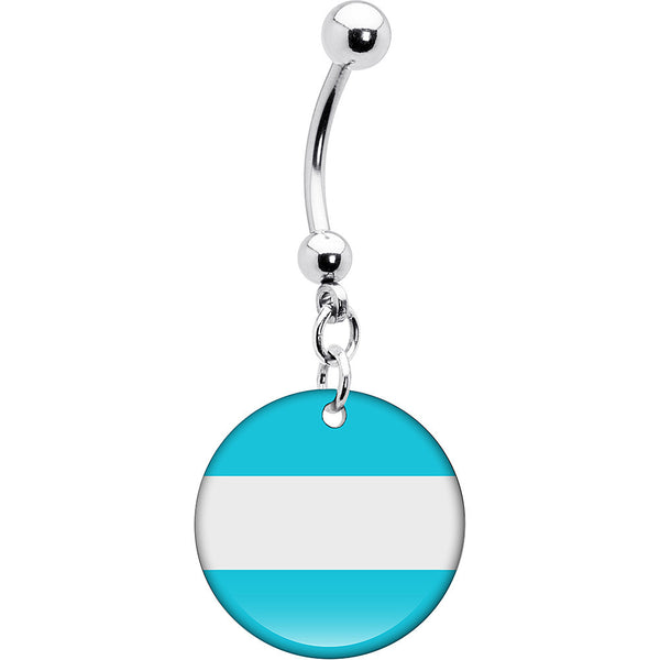 Argentina Flag Belly Ring