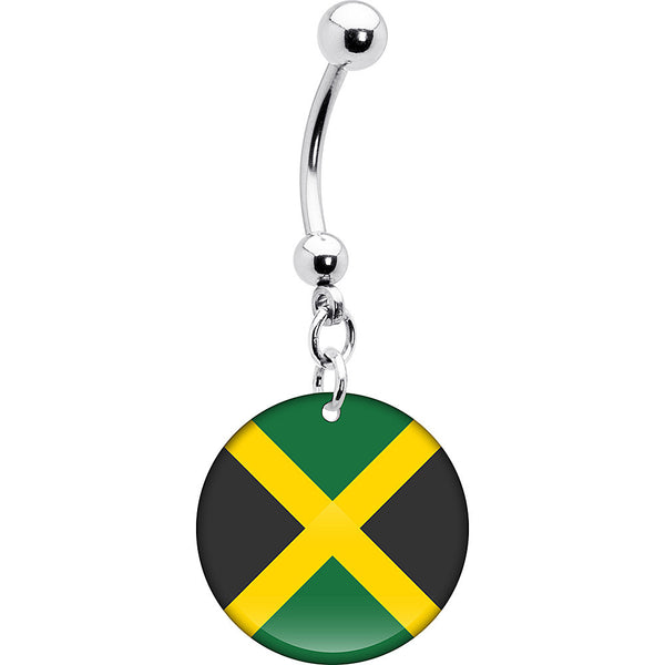 Jamaica Flag Belly Ring