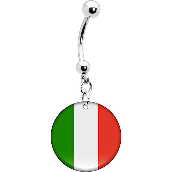 Mexico Flag Belly Ring