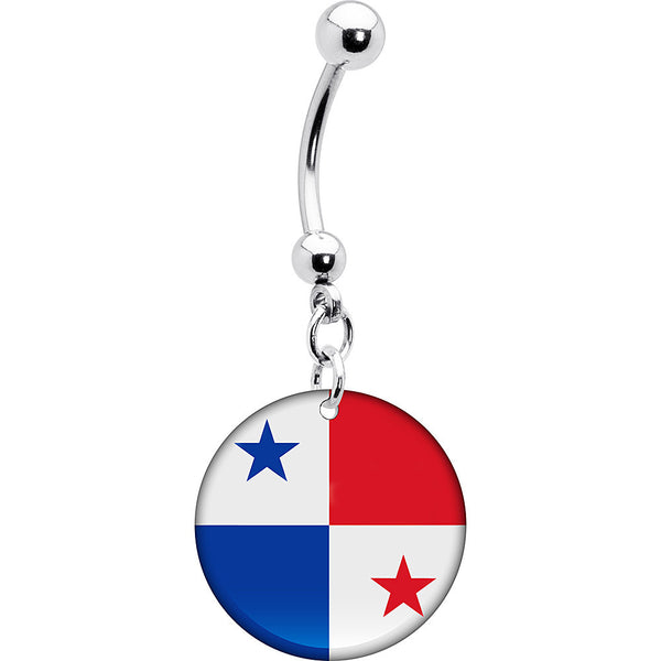 Panama Flag Belly Ring