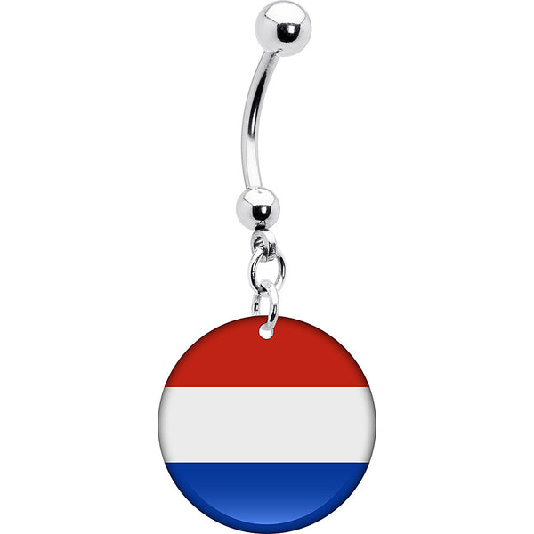 Paraguay Flag Belly Ring
