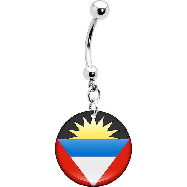Antigua and Barbuda Flag Belly Ring