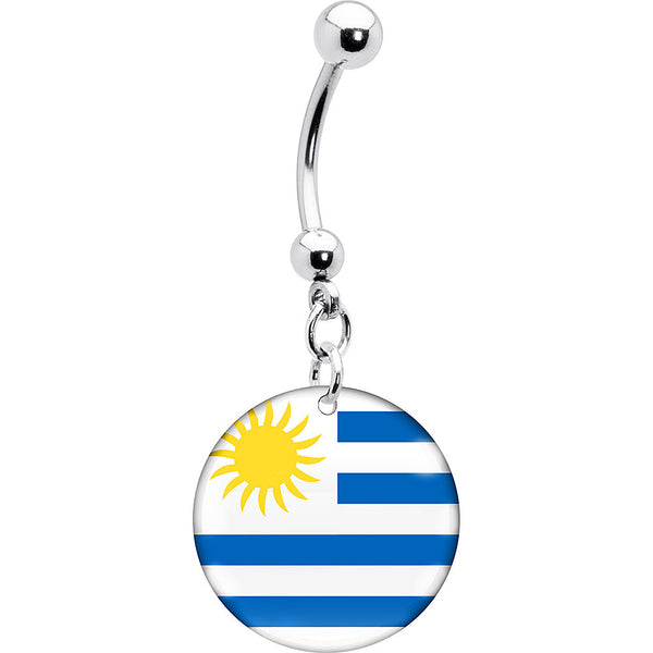 Uruguay Flag Belly Ring