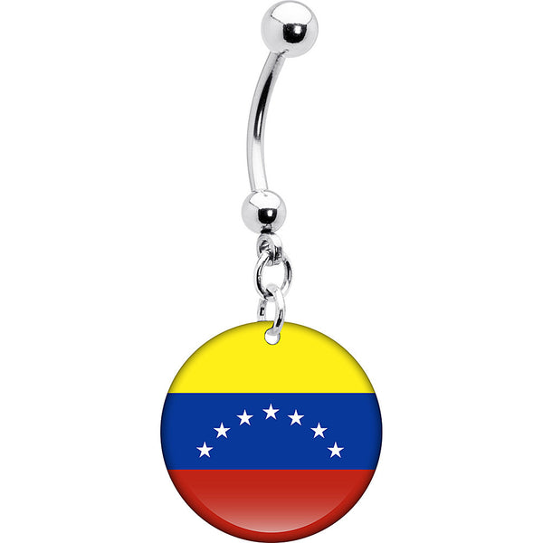 Venezuela Flag Belly Ring
